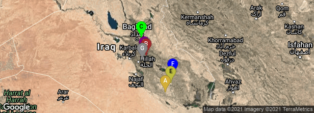 Detail map of Al Muthanna Governorate, Iraq,Babylon Governorate, Iraq,Baghdad Governorate, Iraq,Babylon Governorate, Iraq,Dhi Qar Governorate, Iraq,Iraq,Babylon Governorate, Iraq