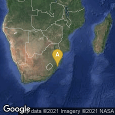 Overview map of Ndondolo, KwaZulu-Natal, South Africa