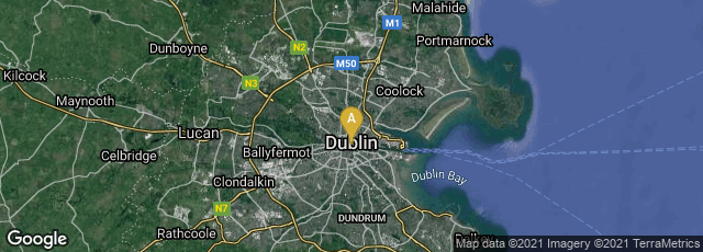 Detail map of Dublin 1, County Dublin, Ireland