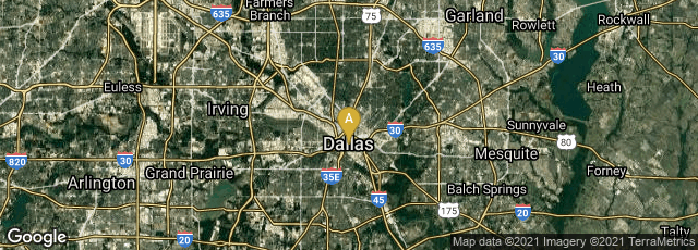 Detail map of Dallas, Texas, United States