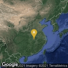 Overview map of Huarong Qu, Ezhou Shi, Hubei Sheng, China