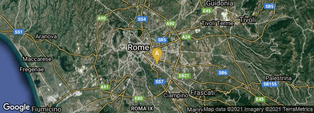 Detail map of Roma, Lazio, Italy