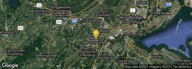 Detail map of New Brunswick, New Jersey, United States
