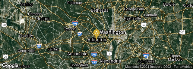 Detail map of Arlington, Virginia, United States