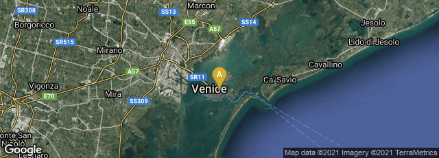 Detail map of Venezia, Veneto, Italy