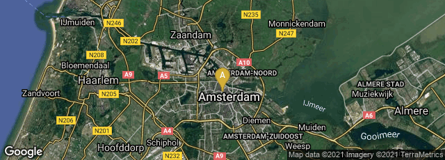 Detail map of Amsterdam-Centrum, Amsterdam, Noord-Holland, Netherlands