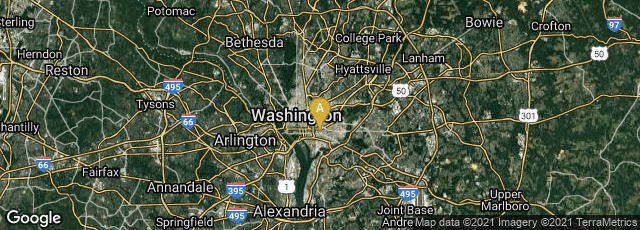 Detail map of Washington, District of Columbia, United States