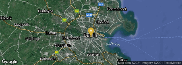 Detail map of South-East Inner City, Dublin, County Dublin, Ireland