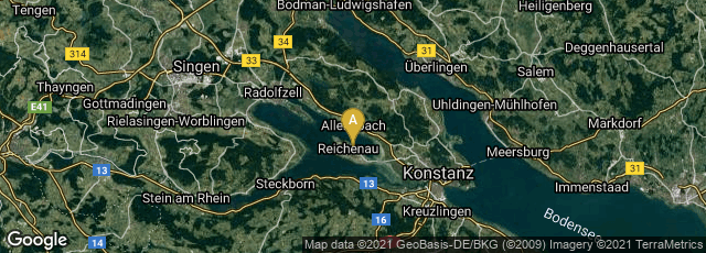 Detail map of Reichenau, Reichenau, Baden-Württemberg, Germany