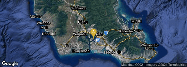 Detail map of Honolulu, Hawaii, United States