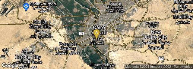 Detail map of Cairo Governorate, Egypt
