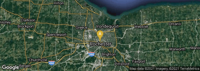 Detail map of Rochester, New York, United States