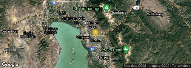 Detail map of Orem, Utah, United States
