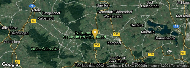 Detail map of Nebra (Unstrut), Sachsen-Anhalt, Germany