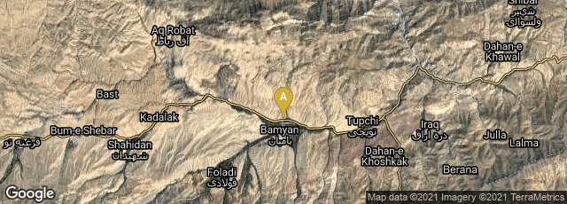 Detail map of Bamian, Bamyan, Afghanistan