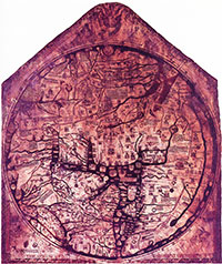 The Hereford Mappa Mundi. (View Larger)