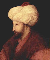 A portrait of Mehmed II by Gentile Bellini.