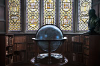 A globe in the present day Merton College Library. (View Larger)