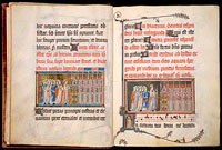 Folios 7v-8r of the Metz Pontifical.