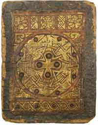 MS M.569 of the Pierpont Morgan Library, considered the finest surviving Coptic bookbinding. (View Larger)