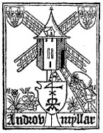 The printer's mark of Androw Myllar, who together with Walter Chepman became the first printer in Scotland under King James IV.