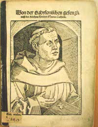 Martin Luther's 'On the Babylonian Captivity of the Church,' in which he criticizes the seven sacraments of the Catholic Church, was the second of three treatises published by Luther in 1520 which became manifestos for the Reformation.  (View Larger)