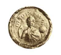 The third imperial seal of Otto I, featuring a frontal bust of the emperor. (View Larger)