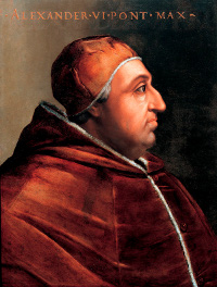 Pope Alexander VI issued a bull granting cesorial powers over book printing to Archbishops and local authorities serving under them. (View Larger)