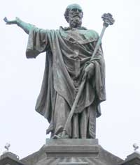Henri Gourgouillon's vision of Pope Urban II, located at le Place de la Victoire in Clermont-Ferrand, France. (View Larger)