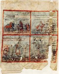 The recto side of Folio Two of Quedlinburg Itala. (View Larger)