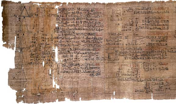 The Rhind Mathematical Papyrus. (View Larger)