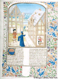 Folio 11 of MS M.232, the Morgan Library's 1470 Belgian manuscript of Ruralia Commoda. (View Larger)