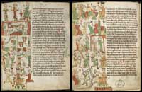 Two pages from the Heidelberg Sachsenspiegel. (View Larger)