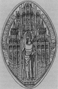 The seal of Richard de Bury. (View Larger)