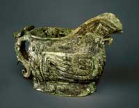 A bronze guang, or ritualistic wine vessel, of the Shang dynasty. (View Larger)