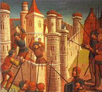 A depiction of the siege of Constantinople, painted in Paris in 1499. (View Larger)