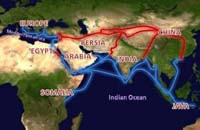 A map of the Silk Road. (View Larger)
