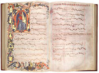 A facsimile version of the Squarcialupi Codex. (View Larger)