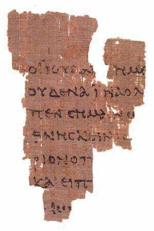 The recto side of the Saint John Fragment. (View Larger)