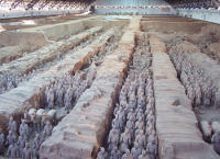 One of three excavation pits of the Terracotta Army. (View Larger)