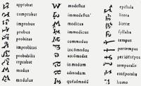 Vindolanda Tablet 122 with Latin shorthand, possibly notae Tironianae, c.90-130 CE. (View Larger)