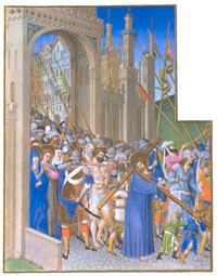 A detail from folio 147v of Les Très Riches Heures. (View Larger)