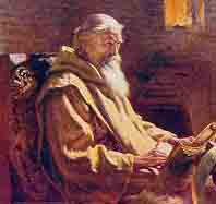 A portrait of the Venerable Bede, by John Doyle Penrose, c. 1902.