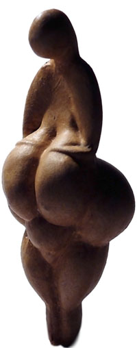 A modern replica of the Venus of Lespugue. (View Larger)