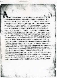 One of the four leaves of the Vergilius Augusteus that resides in the Vatican Library.(View Larger)