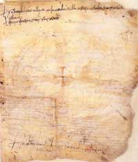 The parchment on which the Veronese Riddle is written. (View Larger)