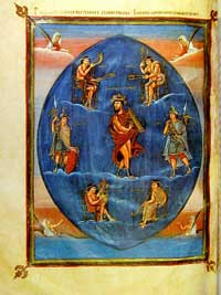 An illustration of the psalms from the Vivian Bible. (View Larger)