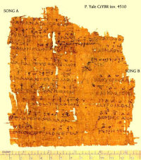 The Yale Musical Papyrus. (View Larger)